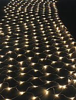 Недорогие -1,5 м * 1,5 м рыболовная сеть строка огни 96 светодиодов рождественский фонарь светлячок газон энергосберегающие теплый белый / RGB / белый / розовый / синий / красный / зеленый / фиолетовый / желтый