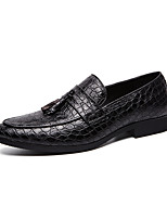cheap -Men's Spring & Summer / Fall & Winter Classic / Casual Daily Party & Evening Loafers & Slip-Ons Walking Shoes Faux Leather Non-slipping Wear Proof Light Brown / Black / Red / Tassel