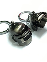 cheap -PUBG Level 3 Helmet Bullet-proof Pan Keychain Charm Creative / Cool Metal Universal