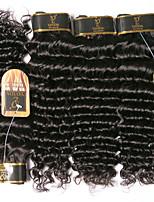Недорогие -6 Связок Бразильские волосы Крупные кудри Не подвергавшиеся окрашиванию Человека ткет Волосы Удлинитель Пучок волос 8-28 дюймовый Естественный цвет Ткет человеческих волос Водопад Мягкость новый
