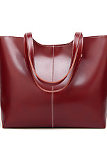 cheap -Women's Bags PU Leather Top Handle Bag Zipper for Daily / Date Black / Red / Blushing Pink / Brown