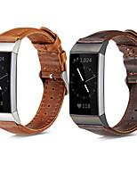 Недорогие -Ремешок для часов для Fitbit Charge 3 Fitbit Спортивный ремешок / Современная застежка Нержавеющая сталь / Натуральная кожа Повязка на запястье