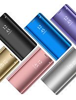 Недорогие -Кейс для Назначение Huawei Huawei P20 / Huawei P20 Pro / Huawei P20 lite Покрытие / Зеркальная поверхность / Флип Чехол Однотонный Твердый ПК / силикагель / P10 Plus / P10 Lite / P10