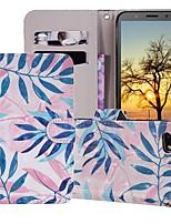 Недорогие -Кейс для Назначение Huawei Huawei Nova 3i / Huawei Nova 4 / Huawei Honor 10 Кошелек / Бумажник для карт / со стендом Чехол дерево Твердый Кожа PU