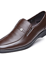 cheap -Men's Fall Casual / British Daily Party & Evening Loafers & Slip-Ons Leather / Microfiber Breathable Non-slipping Wear Proof Black / Brown