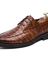Недорогие -Муж. Официальная обувь Синтетика Весна / Осень На каждый день / Английский Туфли на шнуровке Нескользкий Черный / Темно-русый