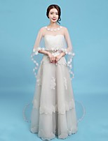 cheap -Sleeveless Tulle Wedding / Party / Evening Women's Wrap With Appliques Capes