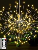 Недорогие -0,3 м рождественские огни строки 150 светодиодов теплый белый / RGB фейерверк свет творческий / новый дизайн / вечеринка с питанием от батарей 6 шт.