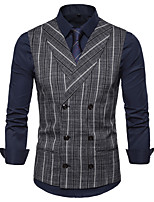 cheap -The Great Gatsby Retro Vintage Medieval Vest Men's Cotton Costume Gray & Black / Navy Blue / Coffee Vintage Cosplay Party Halloween Sleeveless