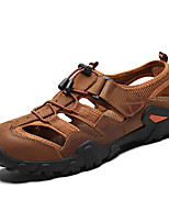 cheap -Men's Summer Casual Beach Home Sandals Water Shoes / Upstream Shoes Elastic Fabric Breathable Non-slipping Wear Proof Light Brown / Dark Brown / Black