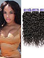 Недорогие -3 Связки Перуанские волосы Волнистые Не подвергавшиеся окрашиванию Необработанные натуральные волосы Человека ткет Волосы Удлинитель Пучок волос 8-28 дюймовый Нейтральный Ткет человеческих волос