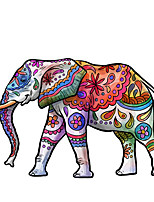 cheap -Colorful Elephant Decorative Wall Stickers - Animal Wall Stickers Animals Living Room / Indoor