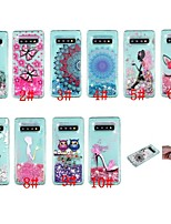 cheap -Case For Samsung Galaxy S9 / S9 Plus / S8 Plus Shockproof / Flowing Liquid / Transparent Back Cover Butterfly / Glitter Shine Soft TPU