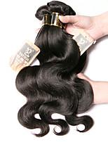 Недорогие -4 Связки Малазийские волосы Естественные кудри Необработанные натуральные волосы Человека ткет Волосы Пучок волос Накладки из натуральных волос 8-28 дюймовый Естественный цвет Ткет человеческих волос