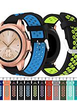 Недорогие -Ремешок для часов для Samsung Galaxy Watch 42 Samsung Galaxy Спортивный ремешок силиконовый Повязка на запястье