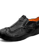 Недорогие -Муж. Комфортная обувь Полиуретан Весна лето На каждый день Мокасины и Свитер Нескользкий Черный / Желтый / Вино / Офис и карьера