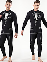 cheap -Men's Full Wetsuit 3mm SCR Neoprene Diving Suit Quick Dry Long Sleeve Back Zip Autumn / Fall Spring Summer