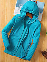 cheap -Women's Hiking Skin Jacket Hiking Jacket Hiking Windbreaker Summer Outdoor Windproof Sunscreen Breathable Quick Dry Jacket Top Elastane Single Slider Running Hunting Fishing White / Light Grey / Blue