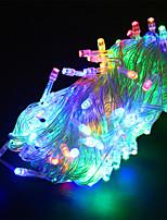 Недорогие -10 м Гирлянды 100 светодиоды Тёплый белый / RGB / Белый Водонепроницаемый / Творчество / Для вечеринок 12 V 4шт