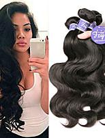 Недорогие -3 Связки Бразильские волосы Естественные кудри Необработанные натуральные волосы 100% Remy Hair Weave Bundles Человека ткет Волосы Удлинитель Пучок волос 8-28 дюймовый Белый Естественный цвет