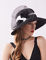 cheap -Queen Elizabeth The Marvelous Mrs. Maisel Retro Vintage Kentucky Derby Hat Fascinator Hat Women's Organza Costume Hat Black / White / Red Vintage Cosplay Party Party Evening