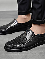 cheap -Men's Summer / Fall Business / Vintage / British Daily Office & Career Loafers & Slip-Ons Nappa Leather Breathable Wear Proof Light Brown / Dark Brown / Black