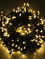 Недорогие -7м Гирлянды 50 светодиоды 1 монтажный кронштейн Тёплый белый / RGB / Белый Водонепроницаемый / Творчество / Можно резать Солнечная энергия 4шт