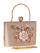 cheap -Women's Flower Polyester Evening Bag Floral Print Champagne / Silver