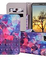 Недорогие -Кейс для Назначение Huawei Huawei Nova 3i / Huawei Nova 4 / Huawei Honor 10 Кошелек / Бумажник для карт / со стендом Чехол Геометрический рисунок / Градиент цвета Твердый Кожа PU