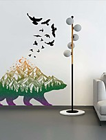 cheap -Landscape / Animals Wall Stickers Animal Wall Stickers Decorative Wall Stickers, PVC Home Decoration Wall Decal Wall Decoration 1pc