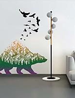 Недорогие -Пейзаж / Животные Наклейки Наклейки для животных Декоративные наклейки на стены, PVC Украшение дома Наклейка на стену Стена Украшение 1шт