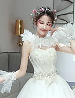 cheap -Sleeveless Tulle Wedding / Party / Evening Women's Wrap With Wave-like Capelets