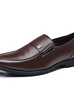 cheap -Men's Faux Leather Spring & Summer / Fall & Winter Business / Casual Loafers & Slip-Ons Breathable Black / Brown