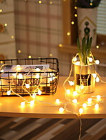 cheap -3m String Lights 20 LEDs Warm White Decorative AA Batteries Powered 1 set