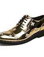 abordables -Homme Chaussures Formal Polyuréthane Printemps été / Automne hiver Simple / Britanique Oxfords Noir / Dorée / Soirée & Evénement