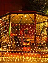 Недорогие -3 м * 2 м рыболовная сеть строка огни 200 светодиодов рождественский фонарь светлячок газон энергосберегающие теплый белый / RGB / белый / розовый / синий / красный / зеленый / фиолетовый / желтый