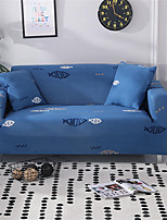 cheap -Fish Print Dustproof All-powerful Slipcovers Stretch Sofa Cover Super Soft Fabric Couch Cover with One Free Pillow Case