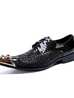 cheap -Men's Oxfords Business / Casual / British Daily Party & Evening Cowhide Handmade Non-slipping Wear Proof Black Fall / Winter