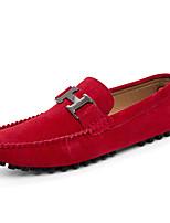 Недорогие -Муж. Официальная обувь Микроволокно Весна лето / Наступила зима Деловые / На каждый день Мокасины и Свитер Дышащий Черный / Коричневый / Красный