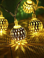 Недорогие -3-метровые гирлянды 20 светодиодов теплого белого / RGB / белый креатив / вечеринка / светодиодный рождественский фонарь / декоративные батарейки AAA на 1 комплект