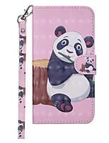 Недорогие -Кейс для Назначение Xiaomi Redmi Note 5A / Xiaomi Redmi 6 Pro / Xiaomi Redmi Note 4X Кошелек / Бумажник для карт / со стендом Чехол Панда Твердый Кожа PU / Xiaomi Mi 6