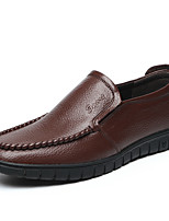 cheap -Men's Spring & Summer / Fall & Winter Classic / British Daily Outdoor Loafers & Slip-Ons Walking Shoes Leather / Nappa Leather Breathable Wear Proof Black / Brown