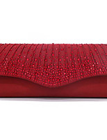 cheap -Women's Chain Polyester Evening Bag Solid Color Black / Wine / Almond