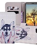 Недорогие -Кейс для Назначение Huawei Huawei Nova 3i / Huawei Nova 4 / Huawei Honor 10 Кошелек / Бумажник для карт / со стендом Чехол С собакой Твердый Кожа PU
