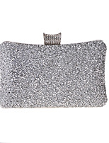cheap -Women's Sequin / Chain Polyester Evening Bag Solid Color Gold / Silver