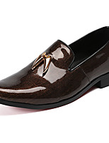cheap -Men's Novelty Shoes Nappa Leather Spring & Summer / Fall & Winter Classic / British Loafers & Slip-Ons Non-slipping Brown / Wine / Party & Evening