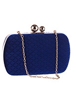 cheap -Women's Chain Polyester Evening Bag Solid Color Black / Purple / Blue
