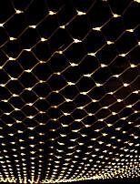 Недорогие -1,5 м * 1,5 м рыболовная сеть строка огни 96 светодиодов рождественский фонарь светлячок газон энергосберегающие теплый белый / RGB / белый / синий творческий / вечеринка / декоративные 110-120 В 5