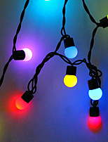 cheap -5m 50 LEDs 7 Colors Self-blinking String Lights Can Be Connected In Series High Power LED  Multi Color Creative Party Decorative Garden Yard Decoration lamp 220-240 V 110-120 V 1 set