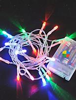 Недорогие -3M Гирлянды 20 светодиоды Тёплый белый / RGB / Белый Творчество / Новый дизайн / Для вечеринок Аккумуляторы 8шт